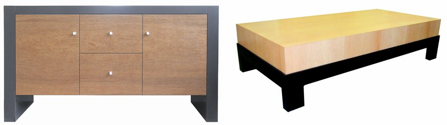 A table and cabinet, part of the stylish custom made furniture in Christchurch