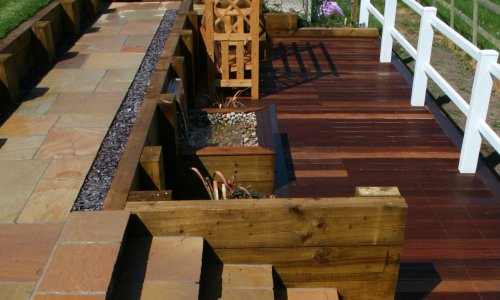 split level decking