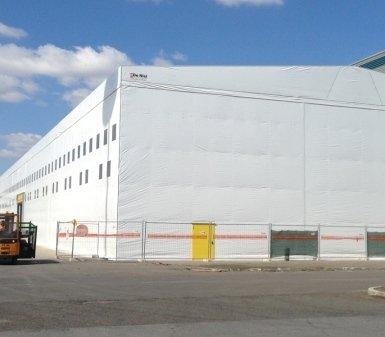 tunnel mobili, capannoni, logistica industriale