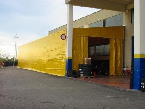 Tunnel mobile laterale monofalda