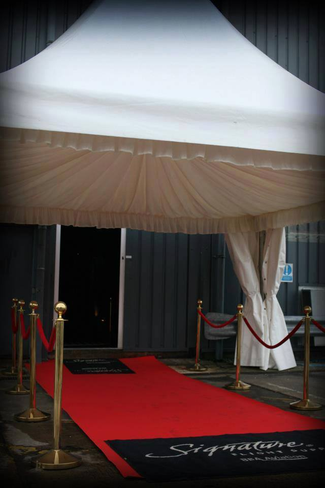 red carpeting