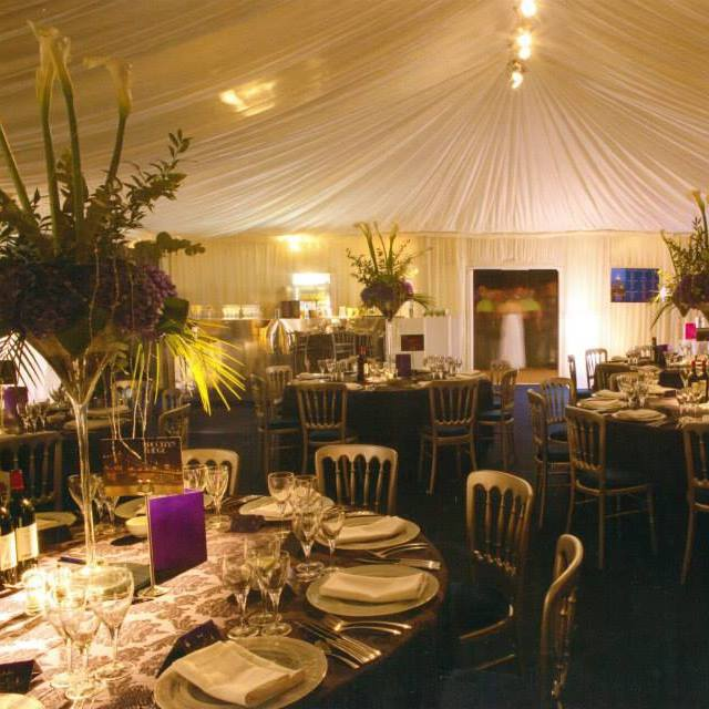 beautiful marquees and lighting