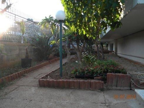 piante fuori da una casa di riposo