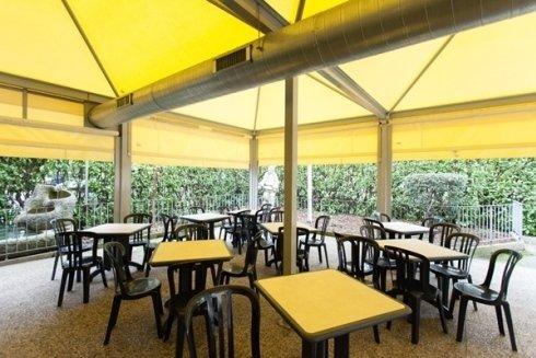 Parte esterna del ristorante