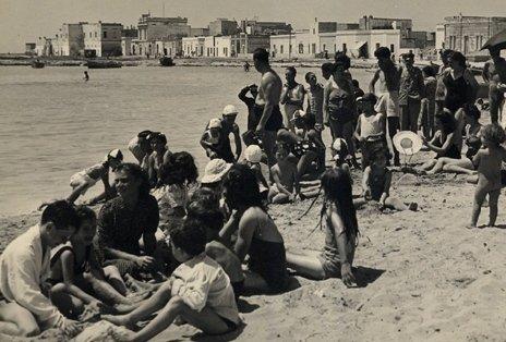 Foto d'epoca spiaggia