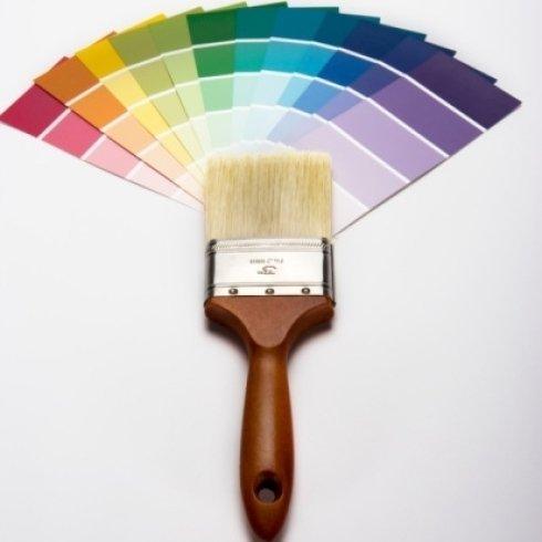 pennello con set di colori