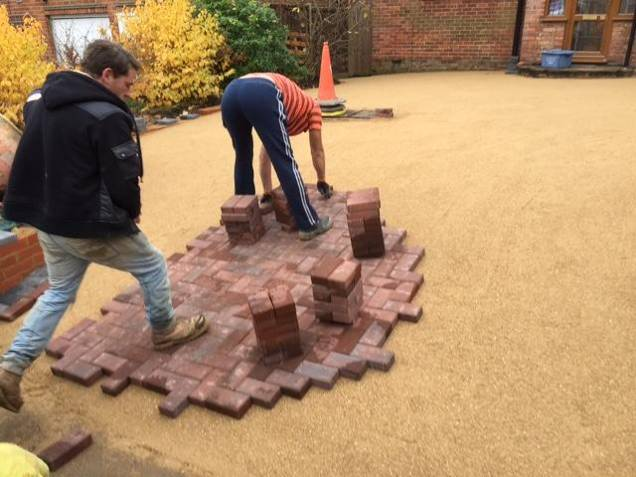 driveway being laid