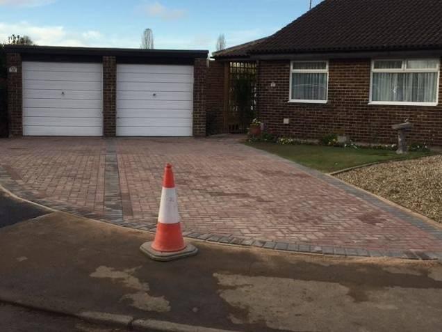 driveway laid