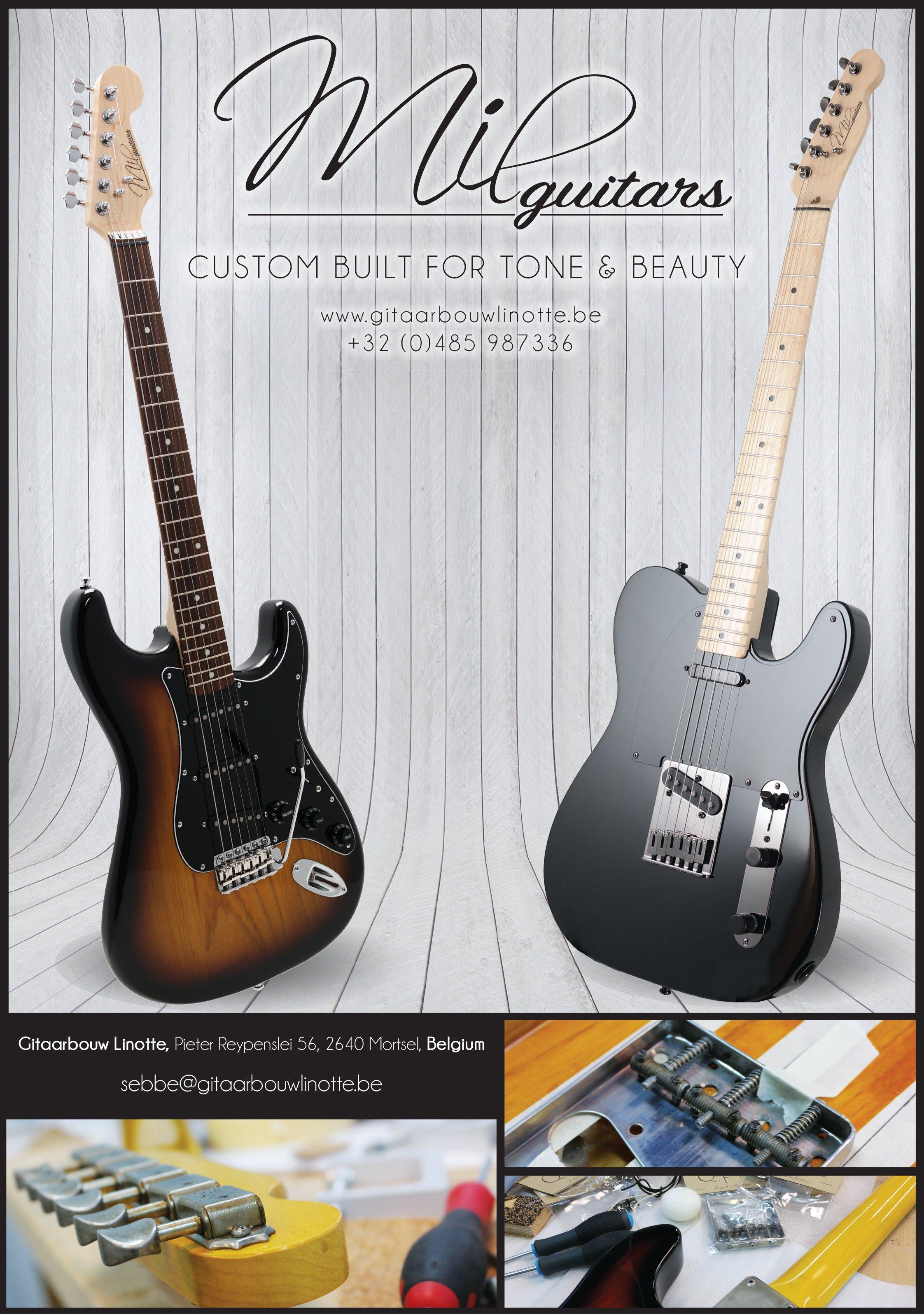 Mil Guitars elektrische gitaren custom shop Antwerpen