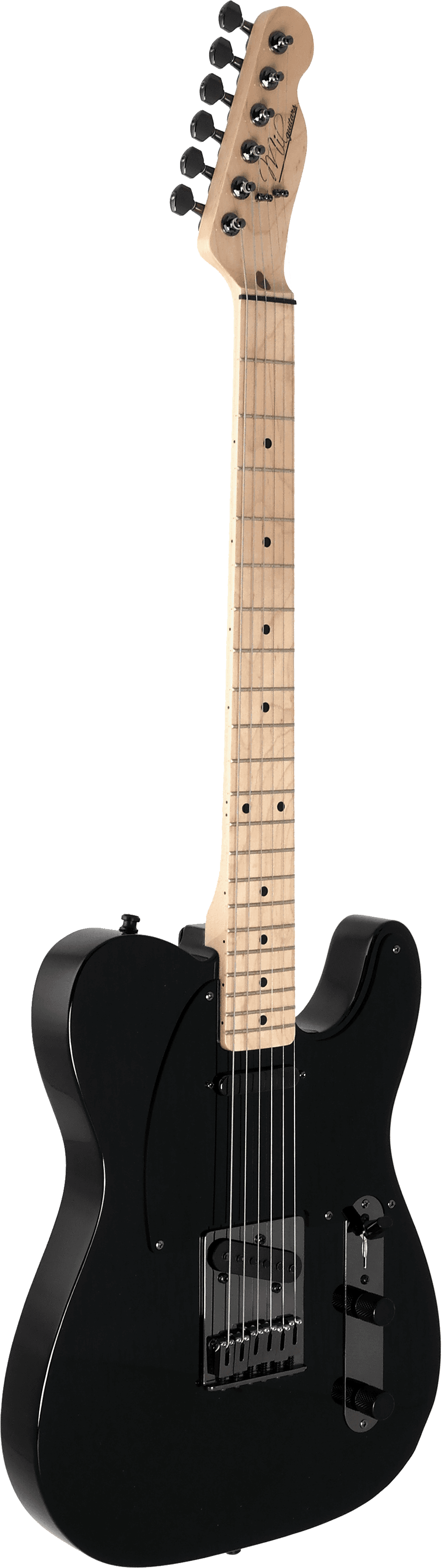 Mil Guitars black T model Bare Knuckles The Boss front