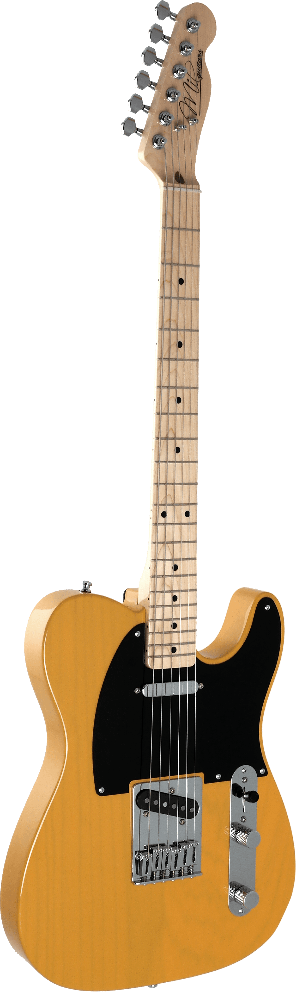 Mil Guitars butterscotch T model Bare Knuckles The Boss front
