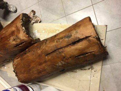 due tronchi in legno