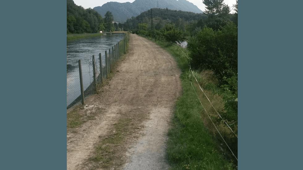Ripristino strada in località Savassa