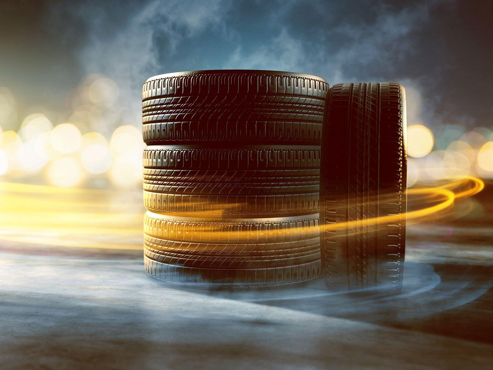 una pila di pneumatici