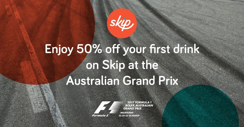 af19686184 Skip's thrilled to be part of the 2017 Formula 1 Rolex Australian Grand  Prix. This year, you can pre-order your drinks at 5 bars around the track,  ...