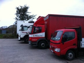 Armagh Potato Co Ltd delivery vehicles from small to large for local and national deliveries.