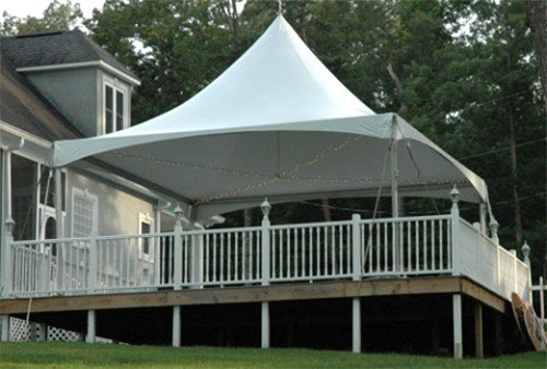 High peak tent at customer residence  in Webster, NY