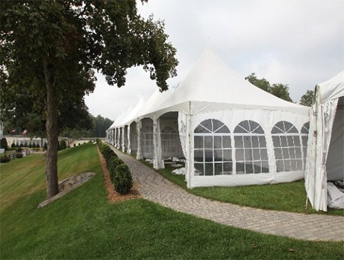 Tents for various events in Webster, NY