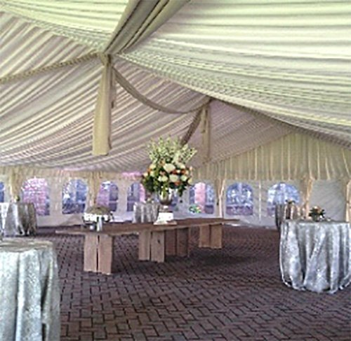 Beautiful interior of the event under tent in Webster, NY