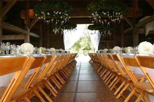 Folding wood chair in an event in Webster, NY