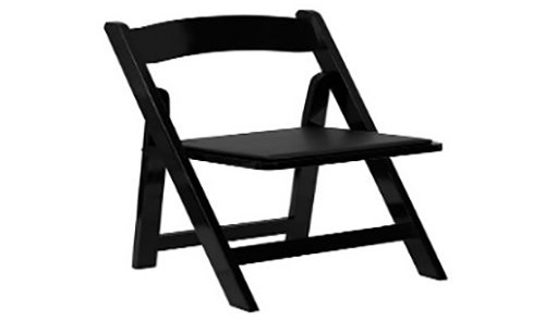Black wood folding chair in Webster, NY