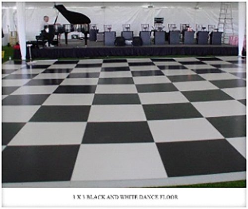 Chess board flooring at an event in Webster, NY