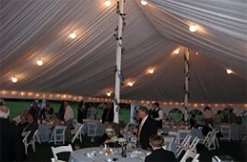 Lights installed at the event by LT rentals in Webster, NY