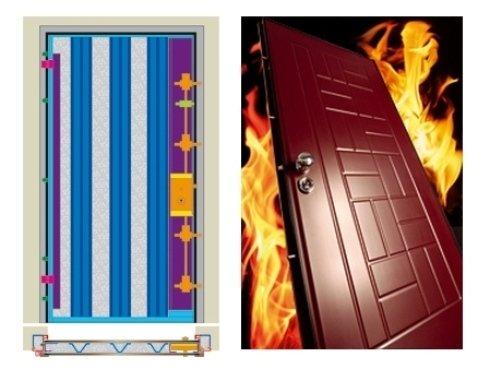 una porta blindata in legno