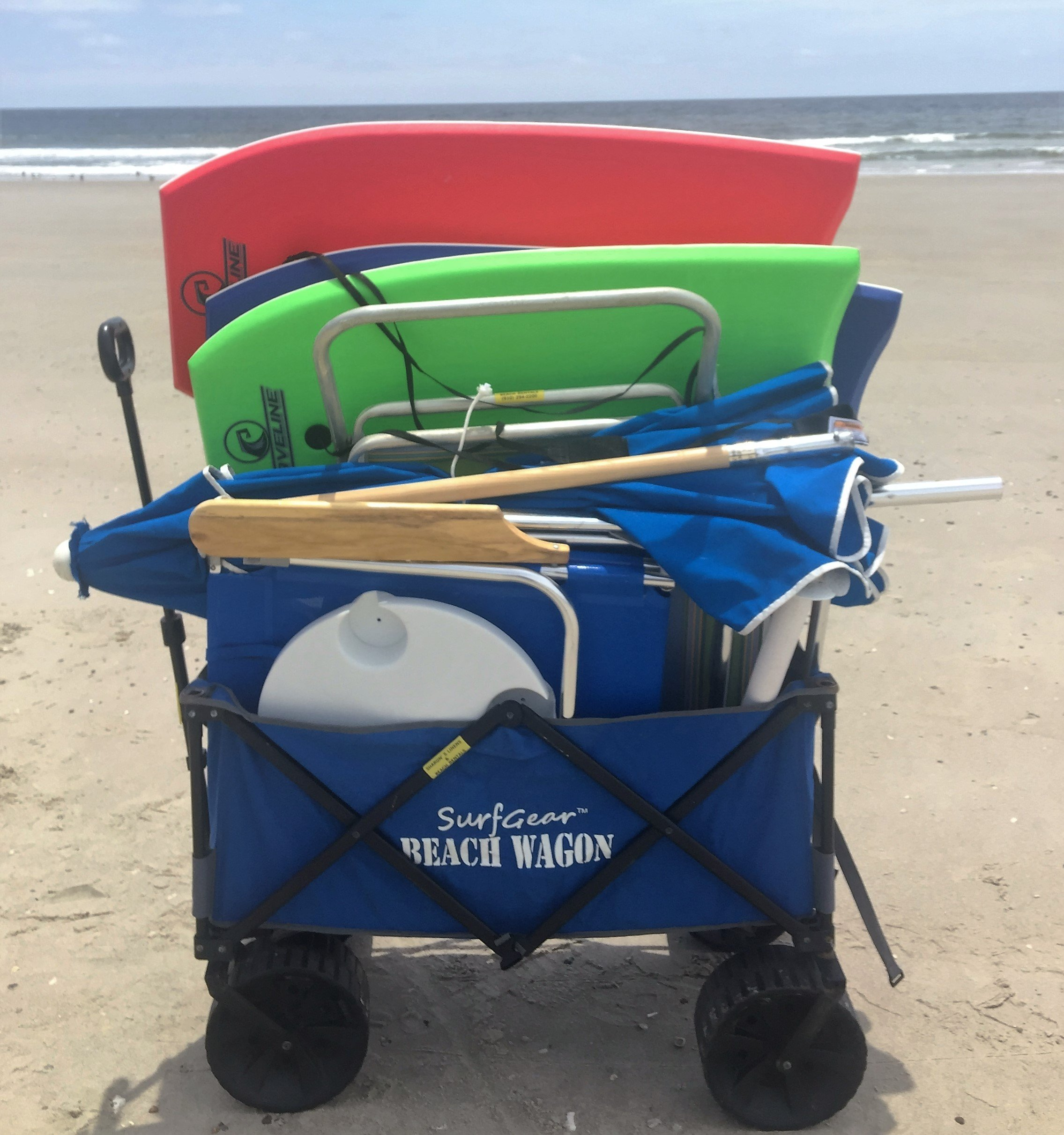2 beach chairs on the beach - Beach Wagon Beach Cart