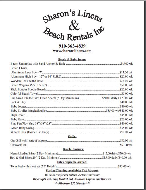beach rentals north carolina