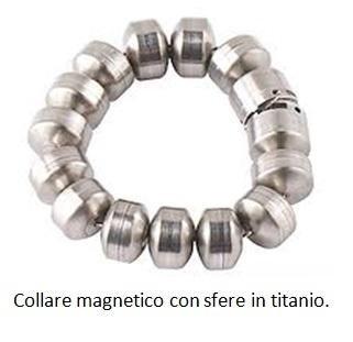 Collare magnetico con sfere in titanio