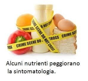 Alcuni nutrienti peggiorano la sintomatologia