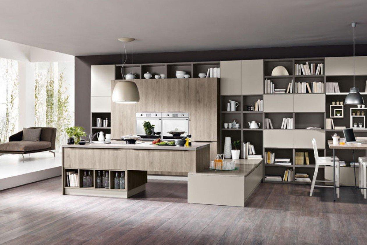 cucina e salotto moderno made in italy