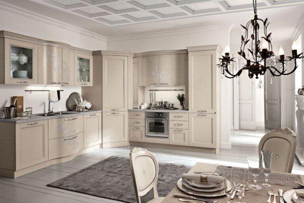 cucina in stile contemporaneo bianca