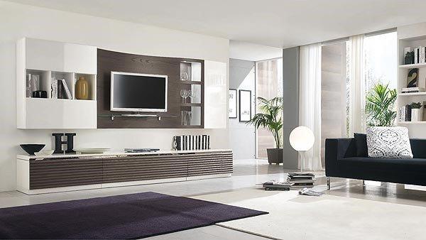salotto moderno con mobile porta tv