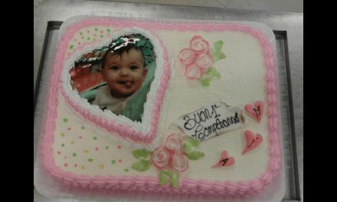 torta personalizzata un anno