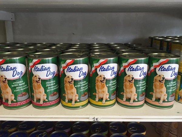 cibo per cani in barattoli