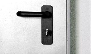 dettaglio maniglia porta tagliafuoco