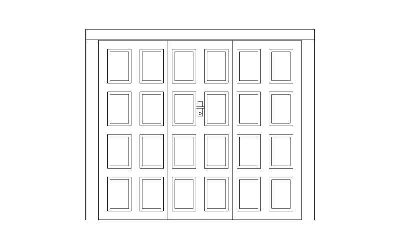 porta basculante legno quadrotti