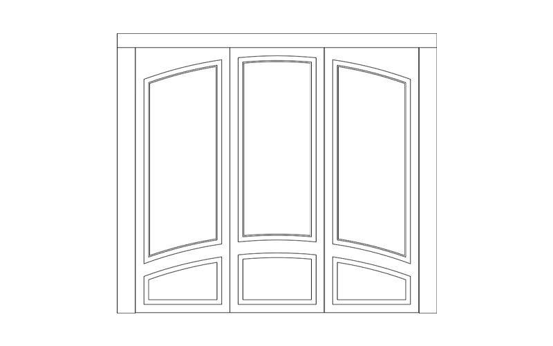 porta basculante pantografata