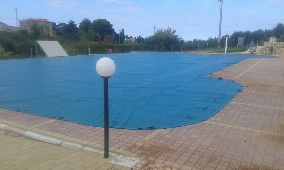 Telo piscina invernale