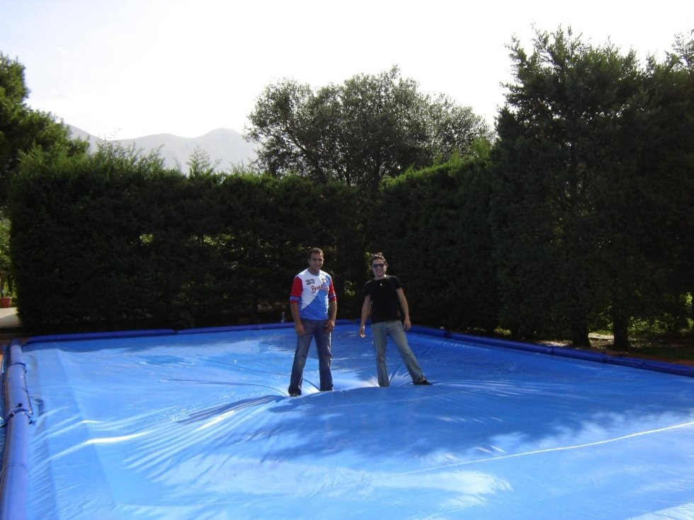 Copertura piscina in inverno