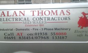 Alan Thomas Electrical Contractors van