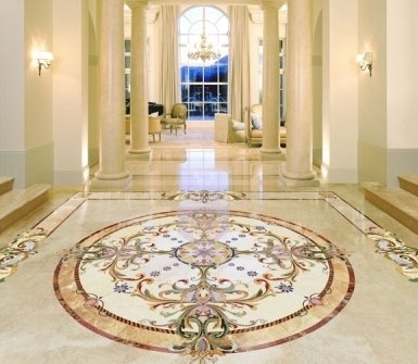 decorated floors, marble tiles, marble carving