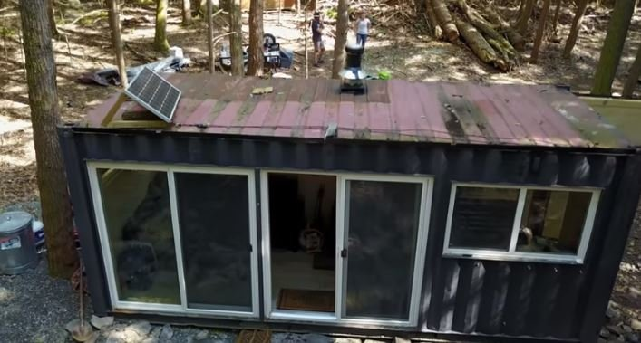 20 Shipping Container Off The Grid Hunting Cabin Modification
