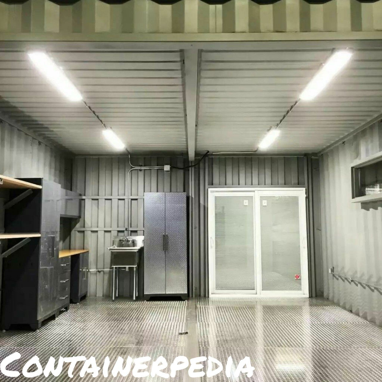 Shipping Container Modification-Garage Organization And
