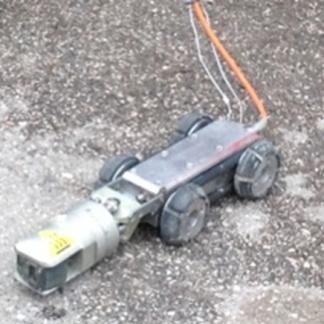 Carrello motorizzato con telecamera girevole