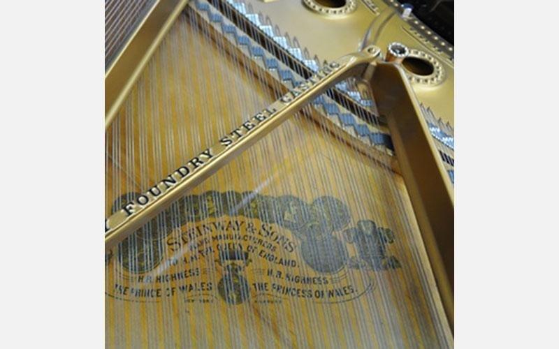Particolare di Steinway & Sons a coda del 1879 con pedale tonale