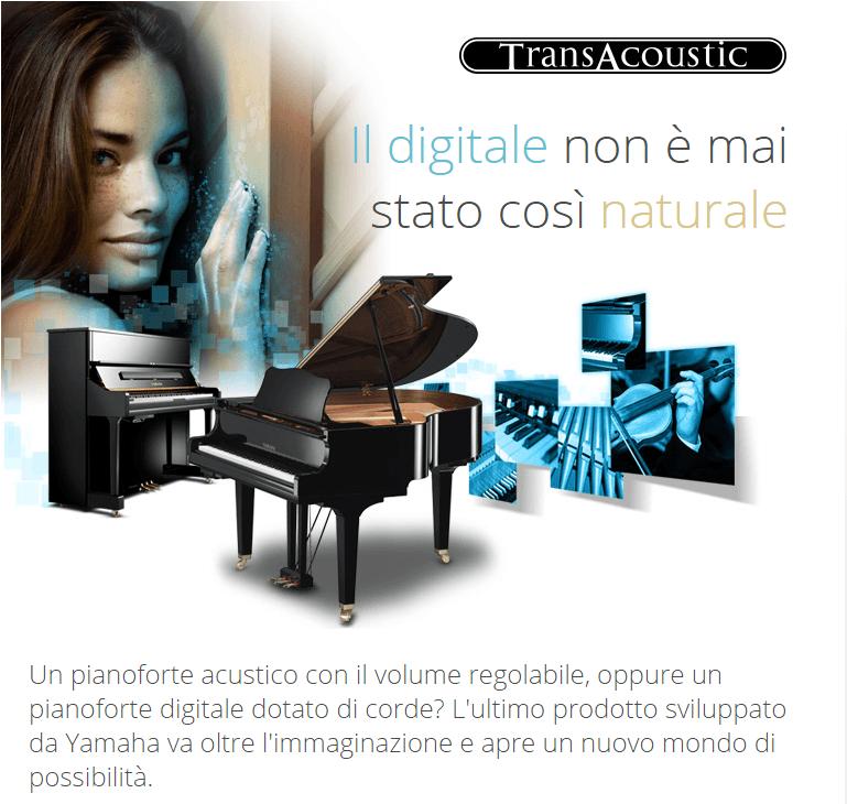 TransAcoustic™Un pianoforte acustico con il volume regolabile, oppure un pianoforte digitale dotato di corde? L