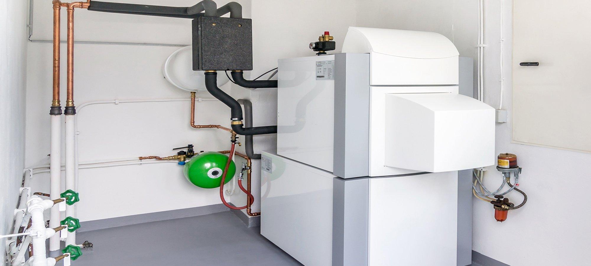 Impianto di caldaie per uso domestico a Cesesna